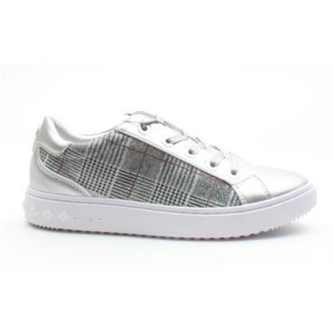 BUGATTI 63605 LACED SHOE - SILVER MULTI