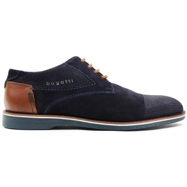 BUGATTI 64702 LACED SHOE - NAVY