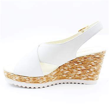 GABOR 65791 WEDGE SANDAL - WHITE