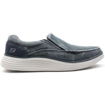 SKECHERS 66014 SLIP ON SHOE - BLUE