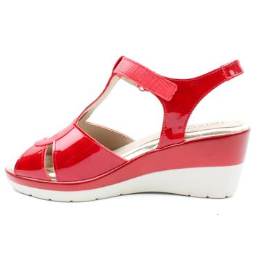PITILLOS  6631 WEDGE SANDAL - RED