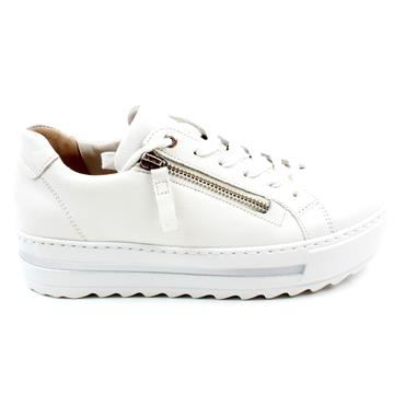 GABOR 66498 LACED SHOE - WHITE