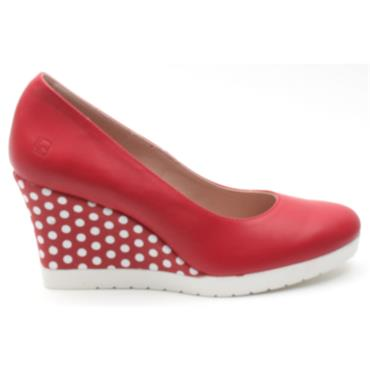 JOSE SAENZ WEDGE SHOE 7000 - RED