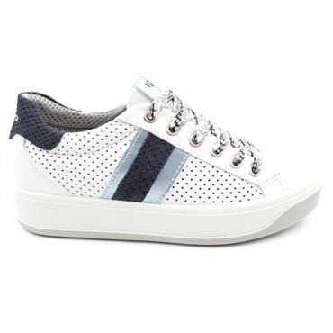 IGI & CO 7156 LACED SHOE - WHITE BLUE