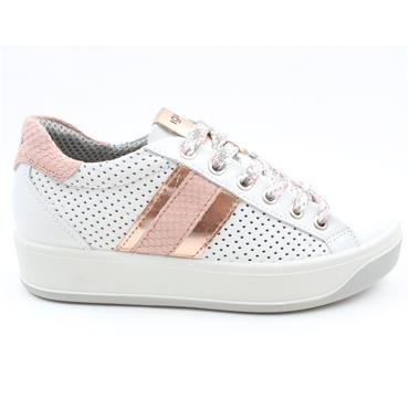 IGI & CO 7156 LACED SHOE - WHITE PINK