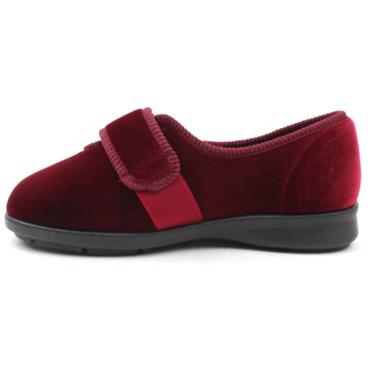 EASY B SLIPPER NELLIE - BURGUNDY