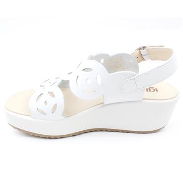 IGI & CO 71645 WEDGE SANDAL - WHITE