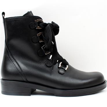 GABOR 71790 LACED BOOT - Black