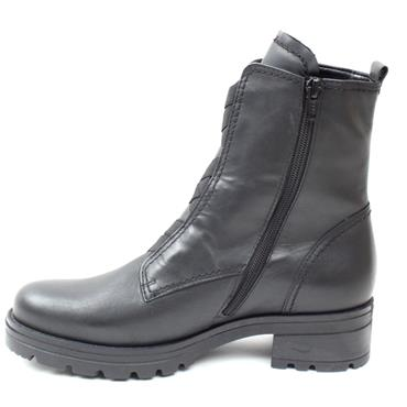 GABOR 72783 WIDE FIT CHUNKY BOOT - BLACK LEATHER