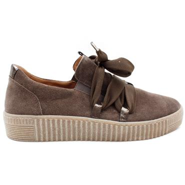 GABOR 73333 LACED SHOE - TAUPE