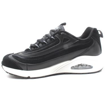 SKECHERS 73678 LACED RUNNER - BLACK/WHITE