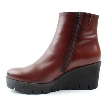 GABOR 74780 WEDGE BOOT - TAN LEATHER
