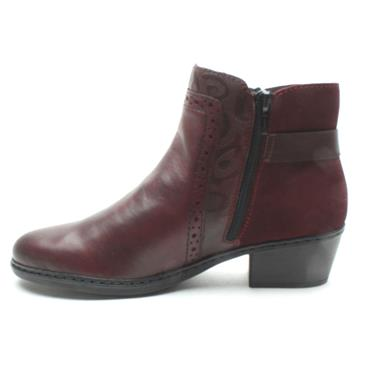 RIEKER 75585 ANKLE BOOT - WINE