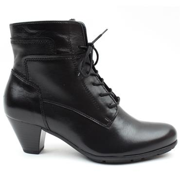 GABOR 75644 LACED ANKLE BOOT - Black