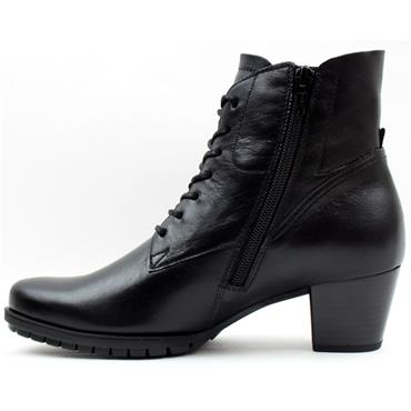 GABOR 76605 LACED ANKLE BOOT - Black