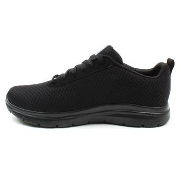 SKECHERS 77125EC SLIP RESISTANT SHOE - BLACK/BLACK