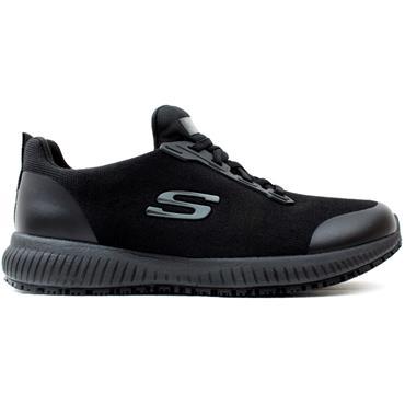 SKECHERS 77222EC SQUAD SHOE - BLACK/BLACK