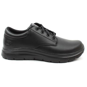 SKECHERS 77513EC SLIP RESISTANT SHOE - BLACK/BLACK