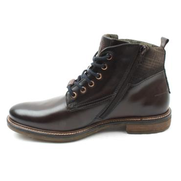 BUGATTI 78230 LACED BOOT - DARK BROWN