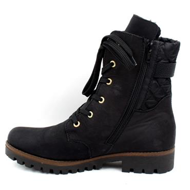 RIEKER 78523 LACED BOOT - Black