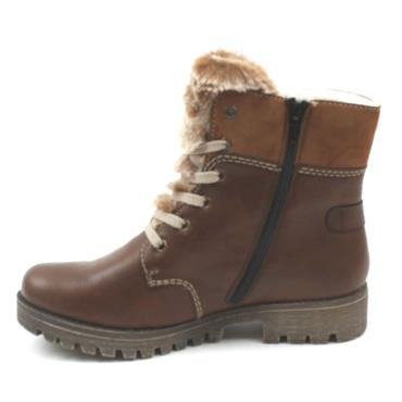 RIEKER 785G1 LACED ANKLE BOOT - TAN
