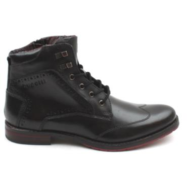 BUGATTI 81031 LACED BOOT - DARK GREY
