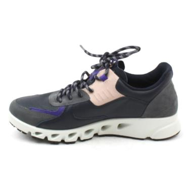 ECCO 880223 LACED RUNNER - NAVY MULTI