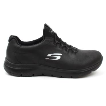 SKECHERS 88888301 LACED RUNNER - BLACK/BLACK