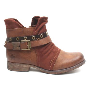 RIEKER 90268 ANKLE BOOT - BROWN