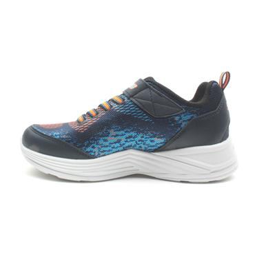 SKECHERS 90563L JUNIOR RUNNER - NAVY ORANGE