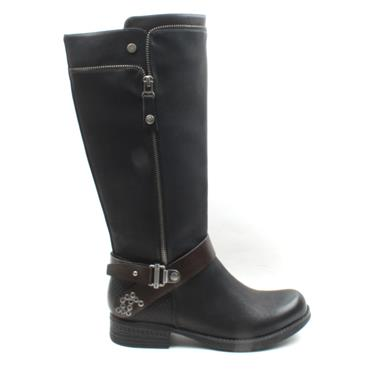 RIEKER 93272 KNEE HIGH BOOT - Black