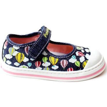 PABLOSKY 961221 CANVAS JUNIOR SHOE - NAVY MULTI