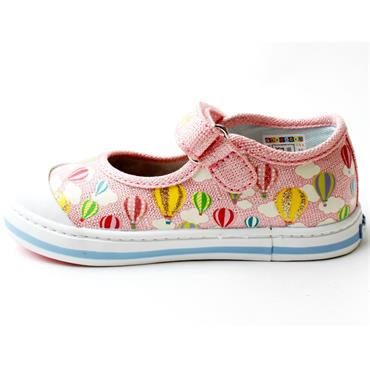 PABLOSKY 961271 CANVAS JUNIOR SHOE - PINK MULTI