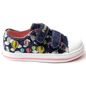 PABLOSKY 961521 JUNIOR CANVAS SHOE - NAVY MULTI