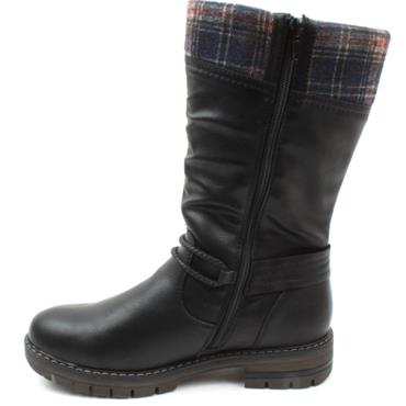 RIEKER 97188 BOOT - BLACK MULTI