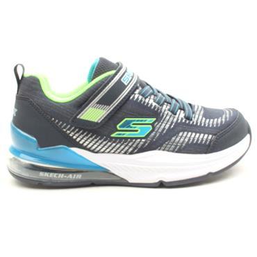 SKECHERS 97743L VELCRO RUNNER - NAVY BLUE