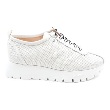 WONDERS A2403 LACED SHOE - WHITE