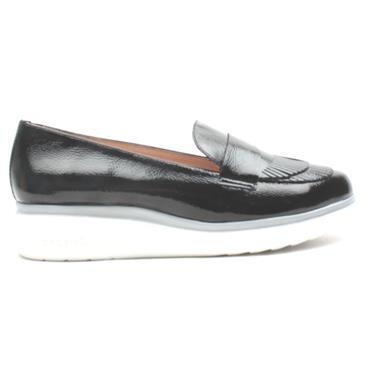 WONDERS A9703 WEDGE SHOE - BLACK PATENT