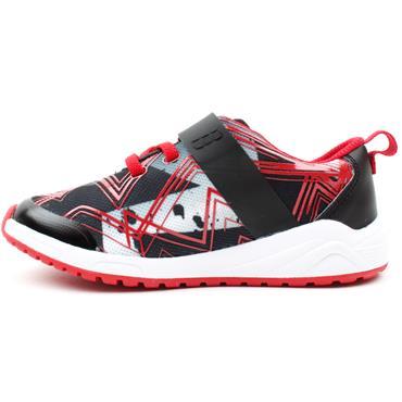 CLARKS AEONPACE K JUNIOR RUNNER - BLACK RED F