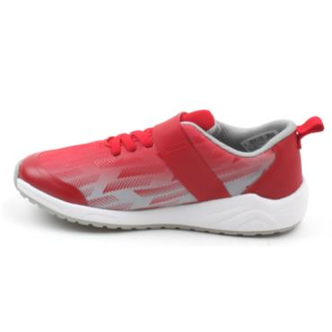 CLARKS AEON PACE VELCRO RUNNER - RED GREY G