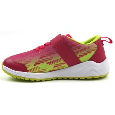 CLARKS AEON PACE VELCRO RUNNER - PINK GREEN F
