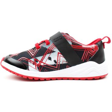 CLARKS AEON PACE T RUNNER - BLACK RED F