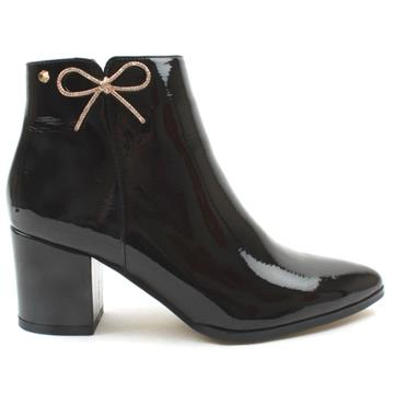 KATE APPLEBY ALFRETON ANKLE BOOT - BLACK PATENT
