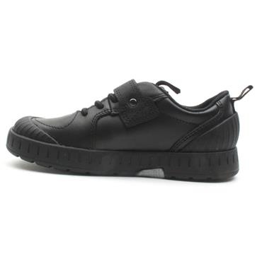 CLARKS APOLLO STEP  K VELCRO SHOE - BLACK G