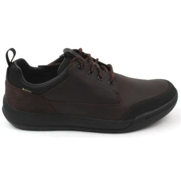 CLARKS ASHCOMBE LO GTX LACED SHOE - BROWN G
