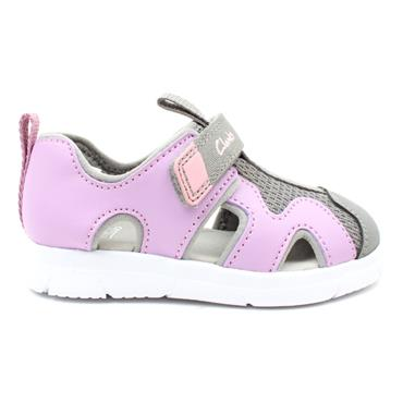 CLARKS ATH SURF T CLOSED SANDAL - LILAC F