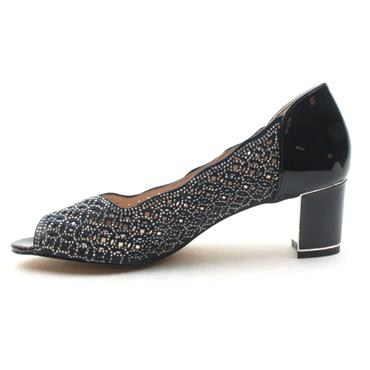 LOTUS ATTICA PEEP TOE DIAMONTE SHOE - NAVY
