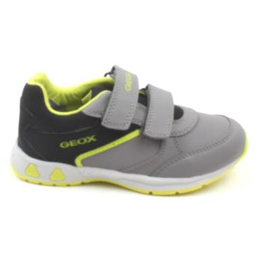 GEOX B041RA JUNIOR PAVLIS RUNNER - BLACK/LIME