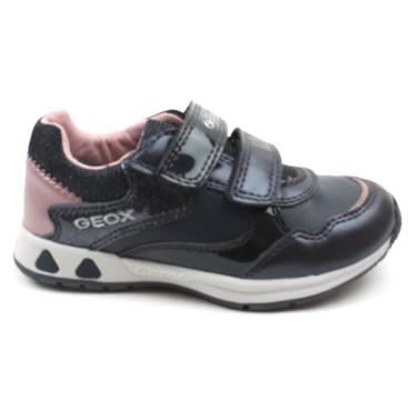 GEOX B041SA JUNIOR PAVLIS RUNNER - NAVY PINK