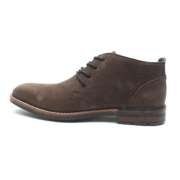 RIEKER B1330 LACED BOOT - DARK BROWN